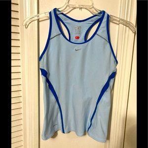Nike Dri Fit Athletic Tank Light Blue Sz M